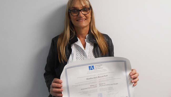 Opinião de Martha Boyarchuk, aluna do Mestrado em Atividade Física e Saúde patrocinado pela FUNIBER