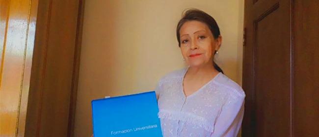 Entrevista com Mireya Herbas Tudor, estudante boliviana bolsista pela FUNIBER